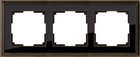 Рамка Palacio на 3 поста бронза/черный WL17-Frame-03 4690389103667