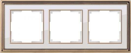 Рамка Palacio на 3 поста золото/белый WL17-Frame-03 4690389103674