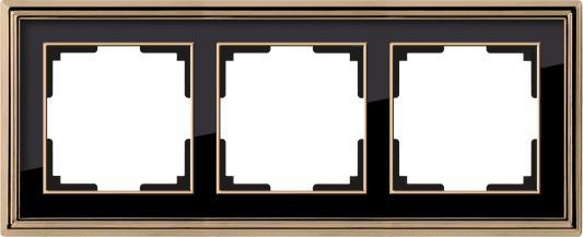 Рамка Palacio на 3 поста золото/черный WL17-Frame-03 4690389103681