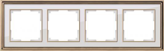 Рамка Palacio на 4 поста золото/белый WL17-Frame-04 4690389103728