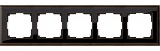 Рамка Palacio на 5 постов бронза/черный WL17-Frame-05 4690389103766