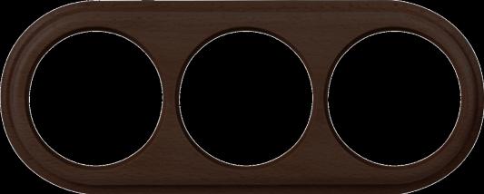 Рамка Legend на 3 поста венге WL15-frame-03 4690389100956