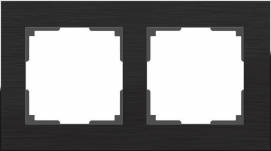 Рамка Aluminium на 2 поста алюминий черный WL11-Frame-02 4690389110450