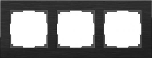 Рамка Aluminium на 3 поста алюминий черный WL11-Frame-03 4690389110467