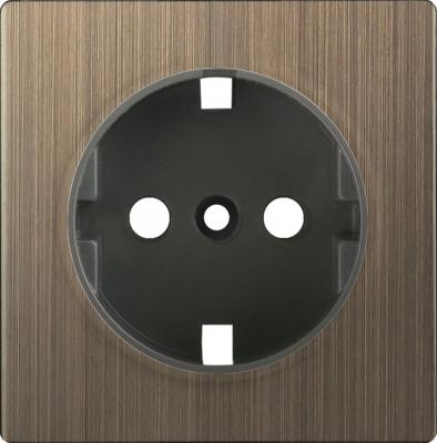 Купить Лицевая панель розетки бронзовая WL12-SKGS-IP20-CP 4690389100482, Werkel, бронза