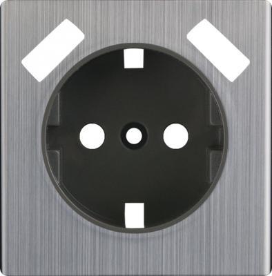 Лицевая панель розетки USB глянцевый никель WL02-USB-CP 4690389100413