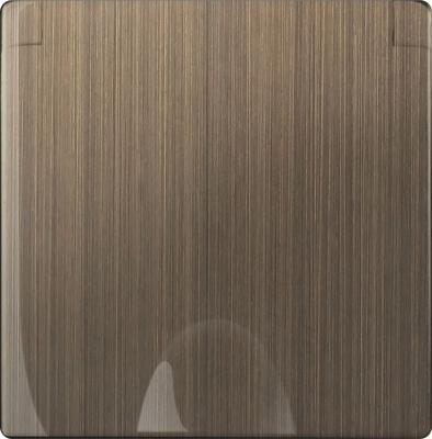 Накладка для розетки IP44 с крышкой бронзовая WL12-SKGSC-IP44-CP 4690389100499