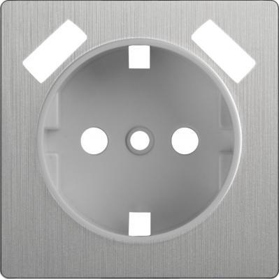 Лицевая панель розетки USB cеребряный рифленый WL09-USB-CP 4690389100338