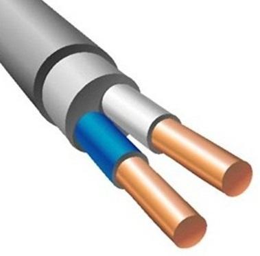 Кабель силовой NUM Калужский кабельный завод 2x1.5 мм круглый 100м серый ГОСТ