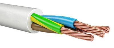 Провод соединительный ПВС Калужский кабельный завод 3x4 мм круглый 100м белый ГОСТ