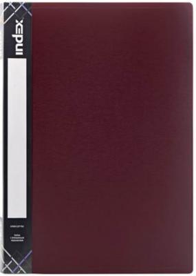 Папка с прижимным механизмом и карманом SATIN, форзац, ф.A4, 0,6мм, бордовая папка с прижимным механизмом и карманом satin форзац ф a4 0 6мм темно зеленая