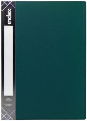 Папка с прижимным механизмом и карманом SATIN, форзац, ф.A4, 0,6мм, темно-зеленая папка с прижимным механизмом и карманом satin форзац ф a4 0 6мм темно зеленая