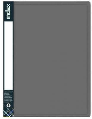 Папка с прижимным механизмом и карманом SATIN, форзац, ф.A4, 0,6мм, серебристая папка с прижимным механизмом и карманом satin форзац ф a4 0 6мм темно зеленая