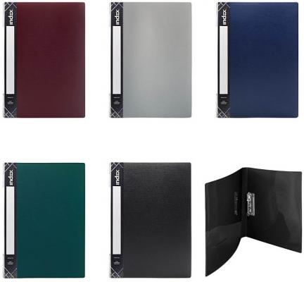 Папка с прижимным механизмом, ф.A4, 0,6 мм, карман, форзац, ассорти SCF201/ASS16 папка с прижимным механизмом ф a4 ассорти черн син красн зелен сер 0 4 мм