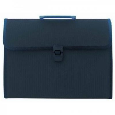 Папка - портфель с ручкой на 13 отделений, с окантовкой, ф.А4, черная