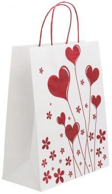 Купить Пакет подарочный крафт, 260*324*127 мм, с тиснением, Winter Wings, Подарочные пакеты