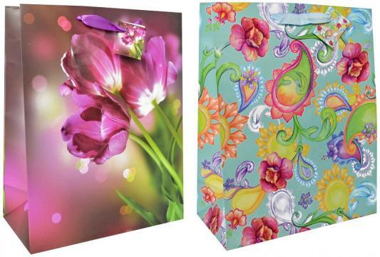 Купить Пакет подарочный ламинированный, 260*324*127 мм, с выборочным лакированием*, Winter Wings, Подарочные пакеты