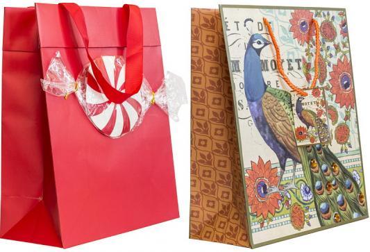 Купить Пакет подарочный бумажный ламинированный, 260х324х127 мм, с украшением|2, Winter Wings, Подарочные пакеты