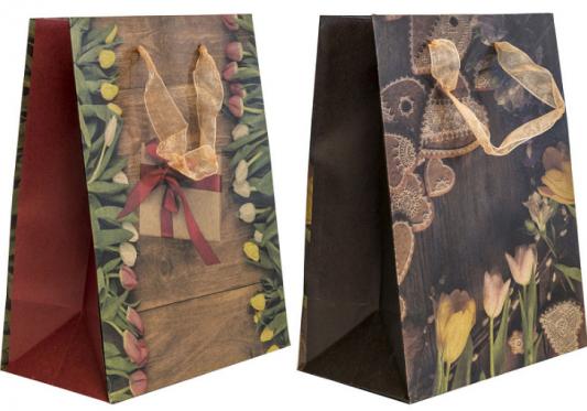 Купить Пакет подарочный Winter Wings Пакет подарочный крафт 180х230х100 мм, Подарочные пакеты