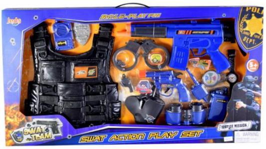 Игр. набор Спецназ, оружие эл., наручники, бинокль, значок, бронежилет, аксессуары, коробка цена и фото