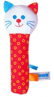 Мягкая игрушка кот МЯКИШИ Котик текстиль 17 см, разноцветный, Животные  - купить со скидкой