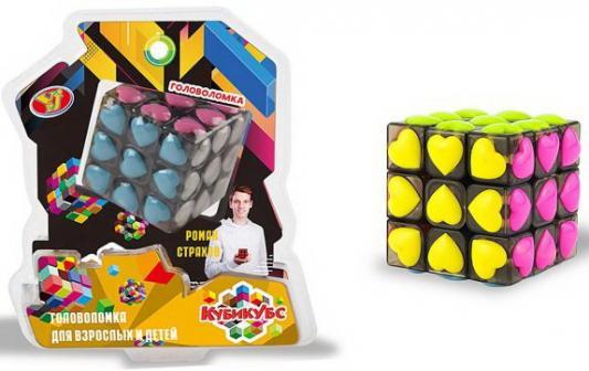 Головоломка Куб Сердечки, 6*6*6 см, 2*блистер головоломка mefferts m6620 куб призрак