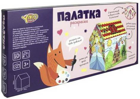 Палатка игровая Раскраска, 70*95*106см, в наборе фломастеры 8 шт., коробка
