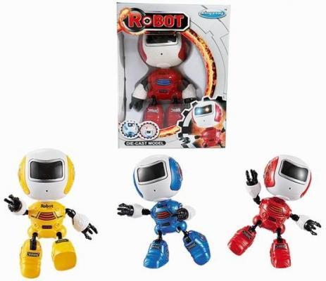 Интерактивный робот Наша Игрушка Косморобот 12 см со звуком светящийся Y22631002 пупс наша игрушка 200133855 32 см со звуком