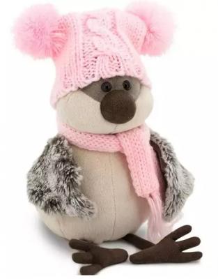 Купить Мягкая игрушка воробей ORANGE Воробей Весёлая шапка искусственный мех наполнитель 20 см, разноцветный, искусственный мех, наполнитель, Животные