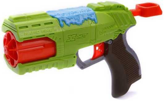 Бластер X-shot Быстрый Огонь Атака Пауков зеленый черный красный 4801 бластер boomco smart shot