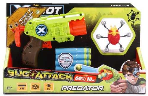 Бластер X-shot Атака Пауков зеленый коричневый красный 4815 бластер boomco smart shot
