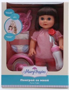 Кукла Mary Poppins Поиграй со мной 33 см со звуком 451253 пупс mary poppins моя первая кукла бекки с игрушкой 30 см со звуком 451187