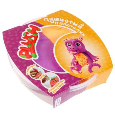 Купить Пластилин Пушистый PLUSH Фиолетовый +Оранжевый, Волшебный мир