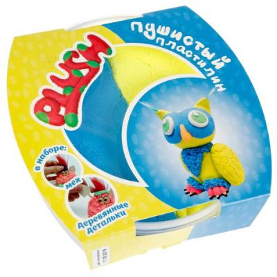 Купить Пластилин Пушистый PLUSH Синий + желтый, Волшебный мир