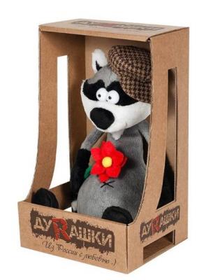 Купить Мягкая игрушка енот ДуRашки Енот & Romashka искусственный мех пластмасса наполнитель 25 см, разноцветный, искусственный мех, пластмасса, наполнитель, Животные