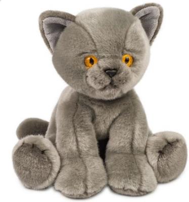 Мягкая игрушка котенок Макси тойз Котик искусственный мех пластмасса наполнитель серый 30 см цена