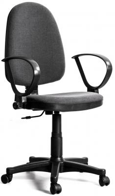 Кресло Recardo Assistant/D подлокотник D-образный (gtpRN/c38/Серый, ткань, 120кг, выс. спинки 565-620мм, ВШГ 995-1110*465*420мм, крест. пласт. 600мм