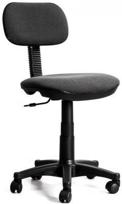 Кресло Recardo Solo (Серый, ткань, 80кг, выс. спинки 390мм, ВШГ 775-885*440*390мм, крест. пласт. 600мм, мех. качания, откидывания)