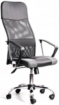 Кресло Recardo Smart (Черно-бежевый, сетка/кожа, высота 1180-1270мм, спинка 740мм, Ш500*Г490, крест 700мм, макс. 120кг, газлифт/качание/откидывание) GTPHCH1 W01\\T04
