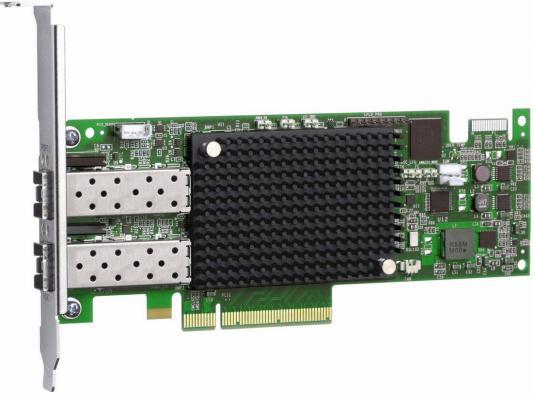 Адаптер Dell Emulex LPe16002B Dual Port 16Gb Fibre Channel HBA Full Height Cus Kit (406-BBGH)