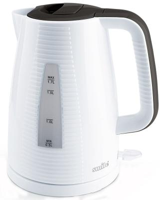 Чайник Smile WK 5303, 2000Вт, 1.7л, пластик, белый чайник smile wk 5303 2000 вт белый 1 7 л пластик