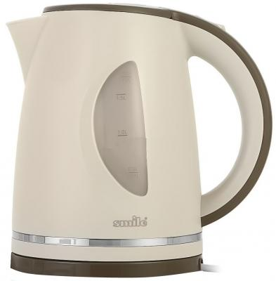 Чайник Smile WK 5305, 2000Вт, 1.7л, пластик, бежевый