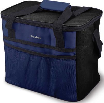 Сумка-холодильник TESLER ICB-1532 15л синий чёрный plus high low striped blouse