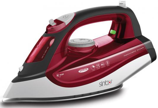 Утюг Sinbo SSI 6611, 2200Вт, подошва тефлон, автооткл, противокапля, красный/белый утюг sinbo