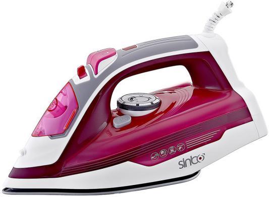 Утюг Sinbo SSI 6615, 2200Вт, подошва керамика, самоочистка, красный