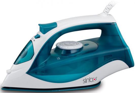 Утюг Sinbo SSI 6603, 2200Вт, подошва керамика, самооистка, противокапля, синий/белый утюг sinbo ssi 6603 синий белый