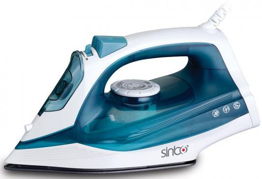 Утюг Sinbo SSI 6604, 2400Вт, подошва керамика, самооистка, противокапля, синий белый утюг sinbo