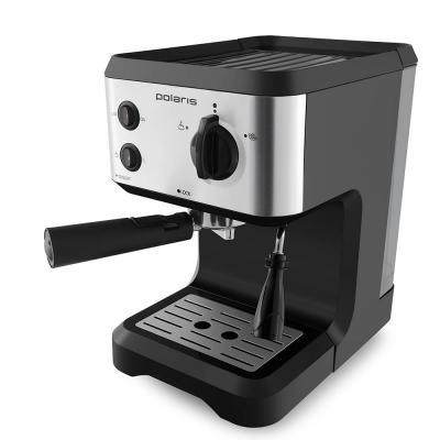Кофеварка эспрессо Polaris PCM 1517AE 1050Вт серебристый/черный кофеварка polaris pcm 1517ae эспрессо серебристый черный