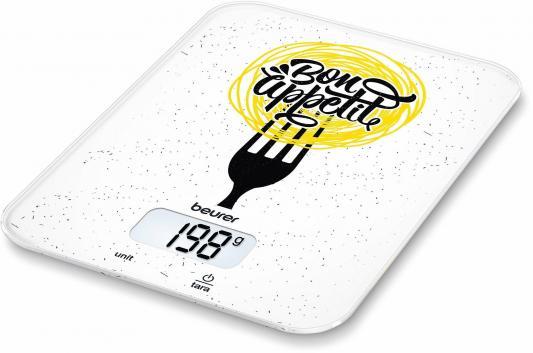 Весы кухонные электронные Beurer KS19 Bon Appetit макс.вес:5кг рисунок весы кухонные beurer ks25