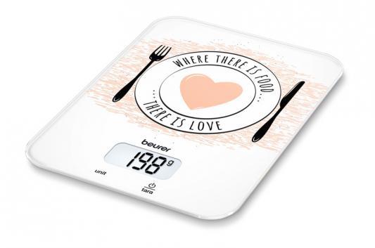 Весы кухонные электронные Beurer KS19 Love макс.вес:5кг рисунок весы кухонные beurer ks25
